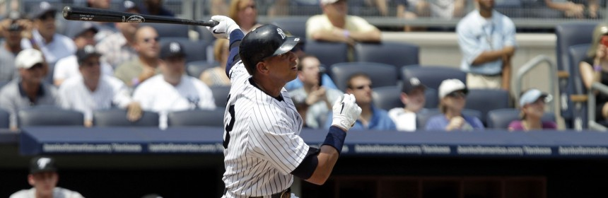 Alex Rodriguez connects for his 600th career home run.